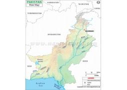 Pakistan River Map - Digital File