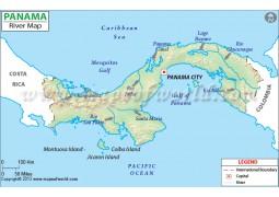 Panama River Map - Digital File