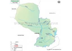 Paraguay River Map - Digital File