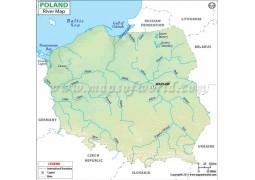 Poland River Map - Digital File