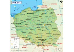 Poland Map - Digital File