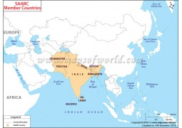SAARC Countries Map - Digital File