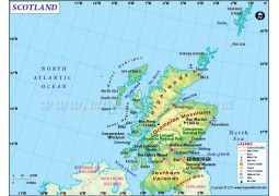 Scotland Country Map - Digital File