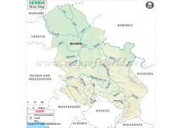 Serbia River Map - Digital File