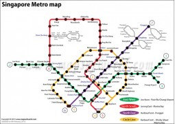 Singapore Metro Map - Digital File