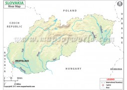 Slovakia River Map - Digital File