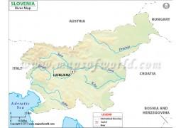 Slovenia River Map - Digital File