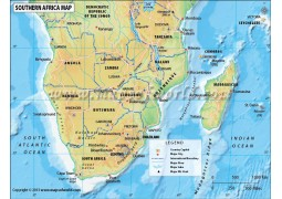 Southern Africa Map - Digital File