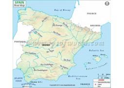 Spain River Map - Digital File
