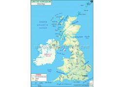 United Kingdom River Map - Digital File