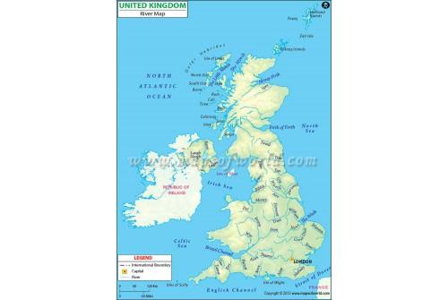 United Kingdom River Map