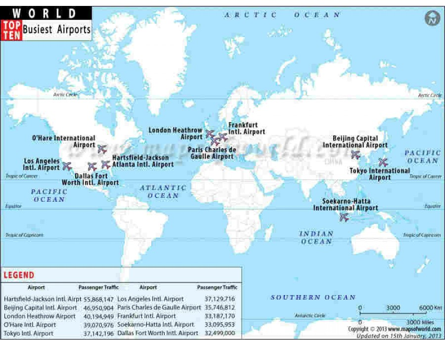 Buy World Busiest Airports Map