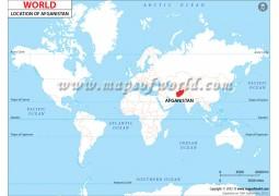 Afghanistan Location on World Map - Digital File