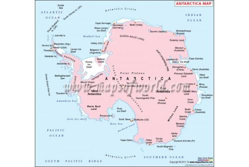 Buy Antarctica Political Map - Antarctica political map