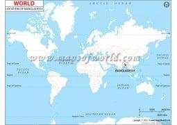 Bangladesh Location Map  - Digital File