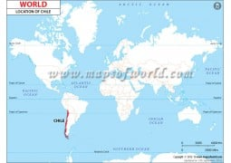 Chile Location on World Map - Digital File
