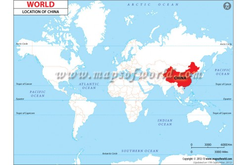 Buy China Location On World Map