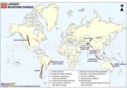 World Mountain Ranges Map - Digital File