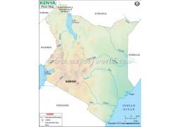 Kenya River Map - Digital File