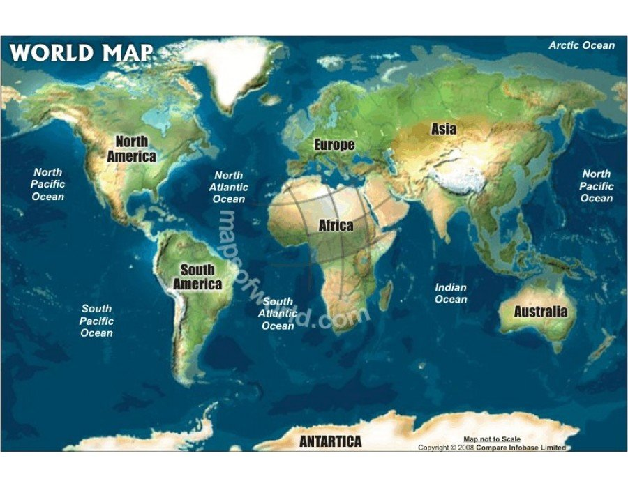 world relief map in robinson projection