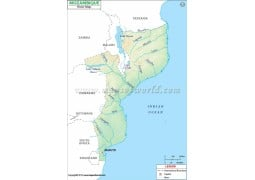 Mozambique River Map - Digital File