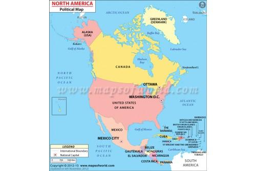 Buy North America Political Map