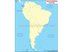 South America Outline Map - Digital File