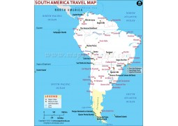 South America Travel Map - Digital File