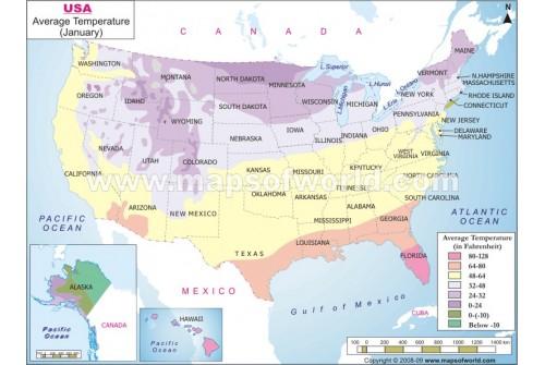 US Temperature Map