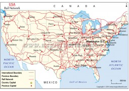 US Rail Network Map