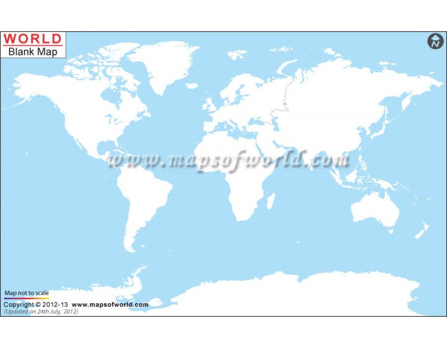 Blank world map buy blank map of the world blank world map gumiabroncs Gallery