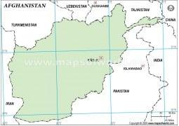 Afghanistan Outline Map, Green Color - Digital File