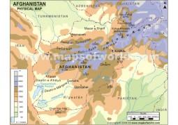 Afghanistan Physical Map  - Digital File