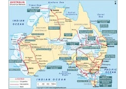 Australia Oil and Gas Network Map - Digital File
