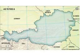 Austria Blank Map, Dark Green  - Digital File