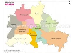 Berlin Bezirke Map - Digital File