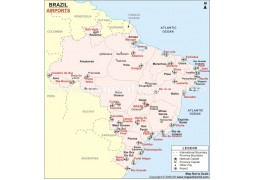 Brazil Airports Map - Digital File