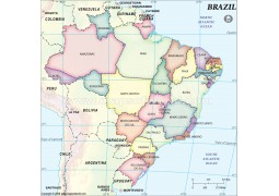 Brazil States Map - Digital File