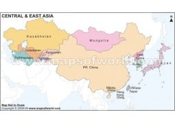 Central and East Asia Map - Digital File