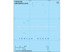 Chagos Blank Map, Green  - Digital File