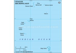 Chagos Physical Map, Green  - Digital File