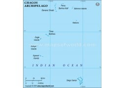 Chagos Political Map, Green  - Digital File