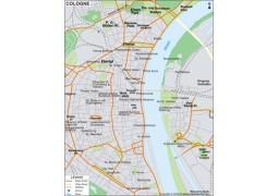 Cologne City Map - Digital File