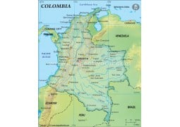 Buy Colombia Maps From Online Map Store - Colombia political map