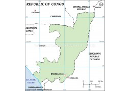 Congo Outline Map - Digital File