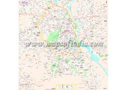 Delhi Tourist Map  - Digital File