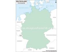 Deutschland Umrisskarte  - Digital File