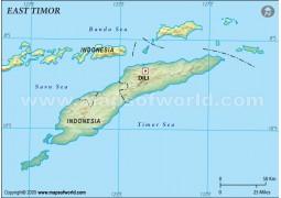 East Timor Blank Map, Dark Green  - Digital File