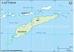 East Timor Outline Map - Digital File