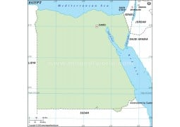 Egypt Outline Map in Green Color - Digital File